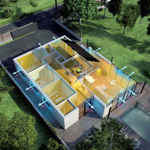 Panneau solaire aérovoltaïque pour produire du chauffage