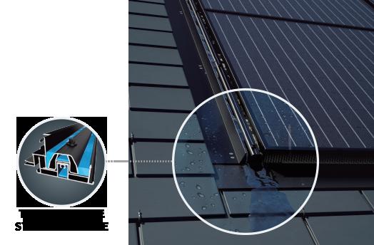 Panneau solaire R-VOLT intégré à la toiture