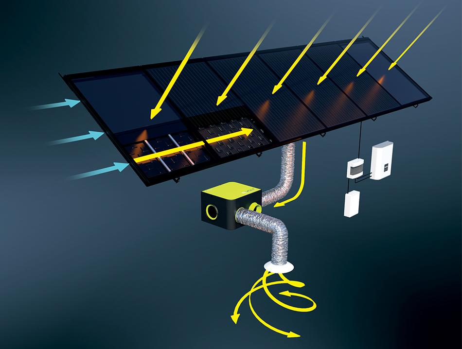 L'aérovoltaïque rapporte de significatives économies d'énergie et un grand confort thermique
